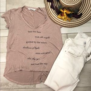 Project social T taupe soft T-shirt